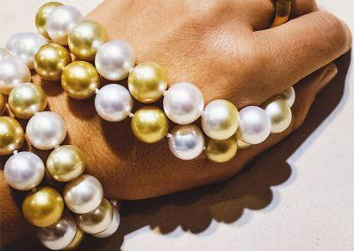 Ring & Perlenkette Südsee